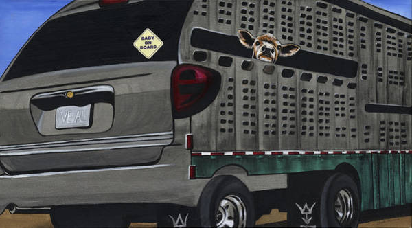 Calf Painting - Baby On Board by Twyla Francois