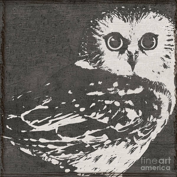 Wall Art - Painting - Baby Owl by Mindy Sommers