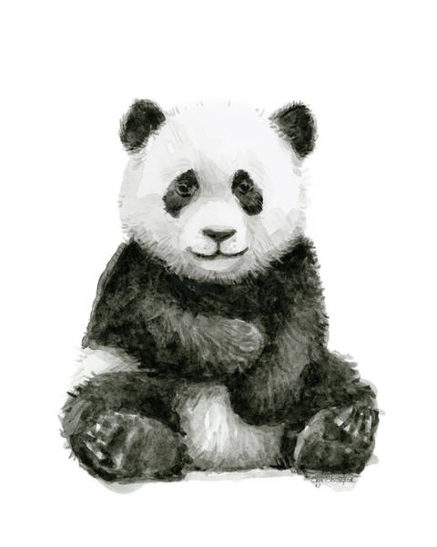 Baby Panda Watercolor Art Print