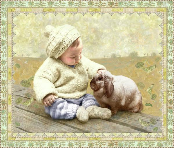 Baby Pats Bunny Art Print