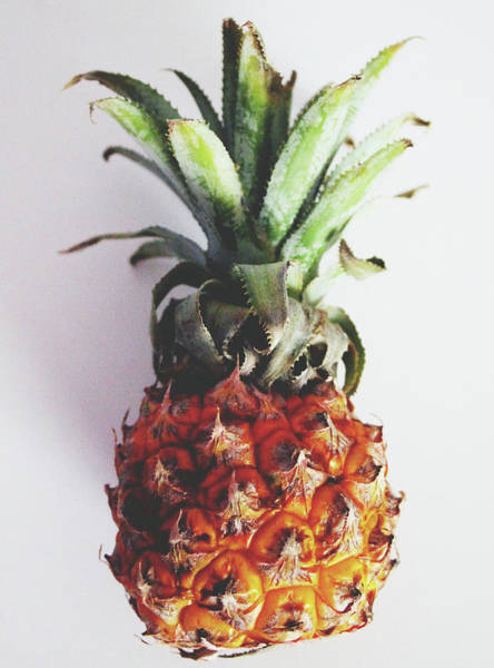 Wall Art - Mixed Media - Baby Pineapple- Art By Linda Woods by Linda Woods