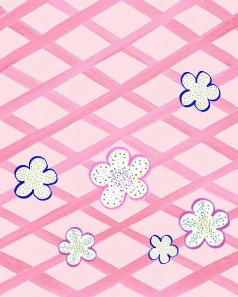 Painting - Baby Pink Flower Garden by Irina Sztukowski
