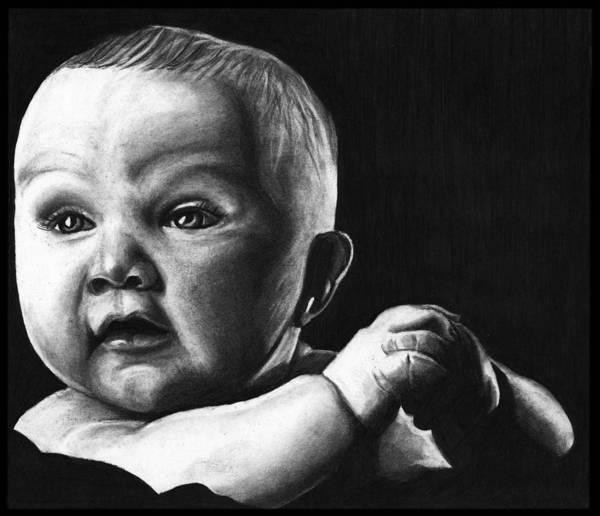 Wall Art - Drawing - Baby Portrait by Alycia Ryan