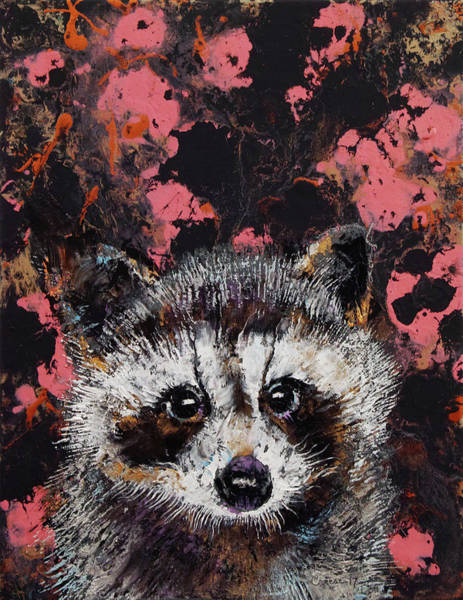 3d Painting - Baby Raccoon by Michael Creese