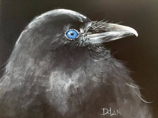 Painting - Baby Raven by Pat Dolan