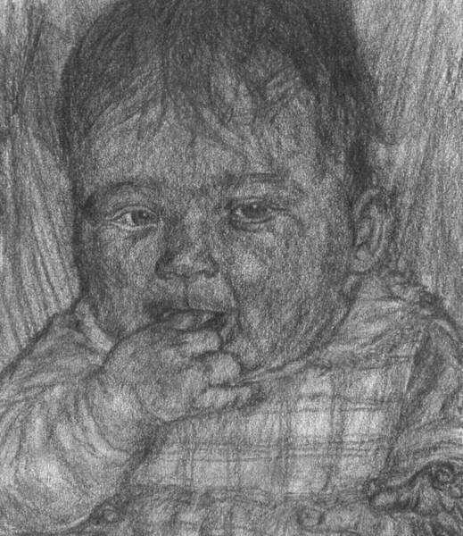 Drawing - Baby by Sami Tiainen