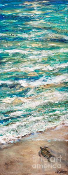 Wall Art - Painting - Baby Sea Turtle II by Linda Olsen