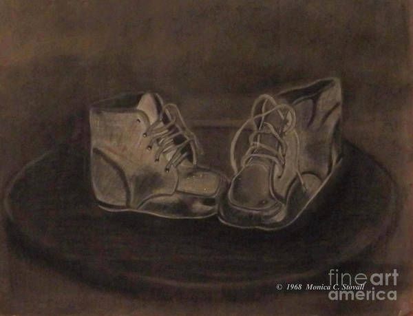Drawing - Baby Shoes Drawing by Monica C Stovall