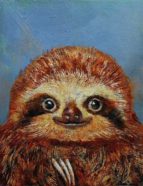 Wall Art - Painting - Baby Sloth by Michael Creese