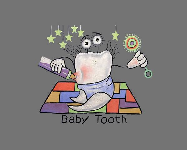 Painting - Baby Tooth T-shirt by Anthony Falbo