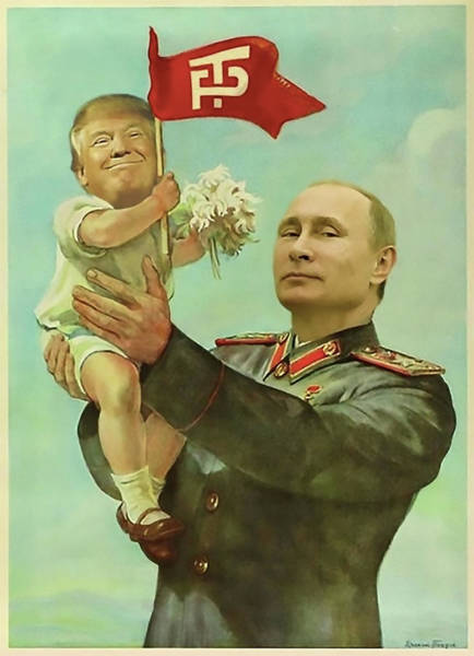 Election Wall Art - Digital Art - Baby Trump Putin by All Art Is Erotic