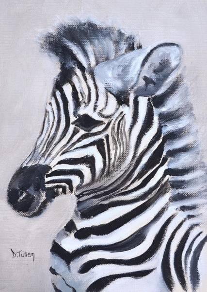 Painting - Baby Zebra Safari Animal Painting by Donna Tuten