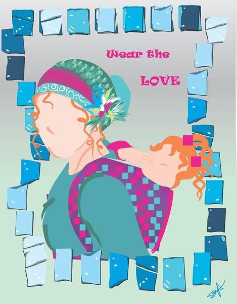 Parenthood Digital Art - Babywearing Love by Parenthood Art Designs