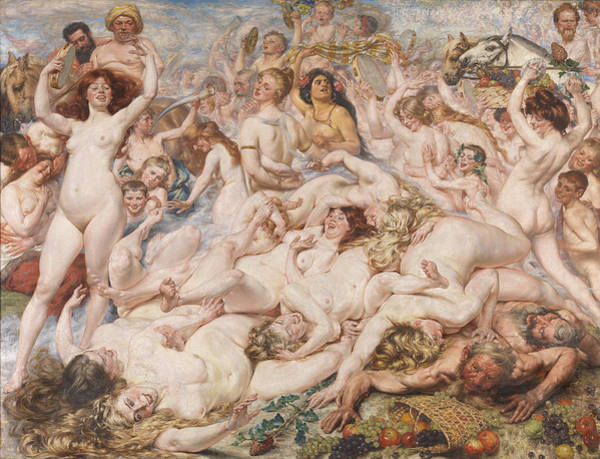 Allegory Photograph - Bacchanalia by Auguste Leveque