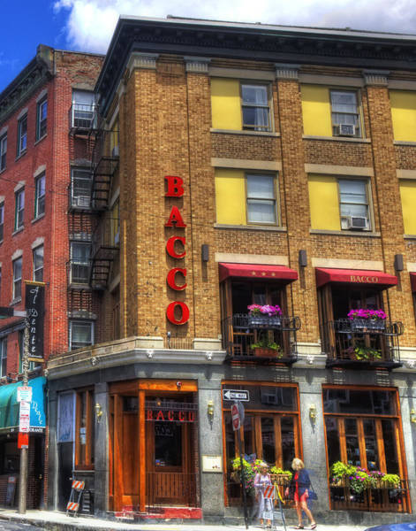 Photograph - Bacco - North End - Boston by Joann Vitali