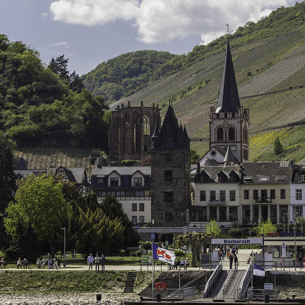 Germania Photograph - Bacharach Dock Squared by Teresa Mucha