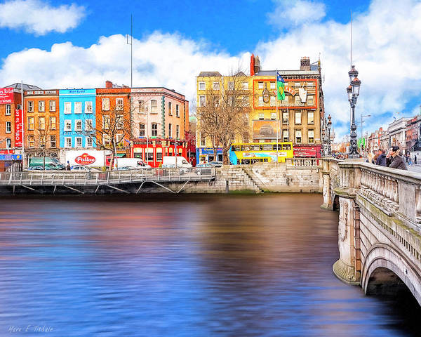 Photograph - Bachelor's Walk - Dublin Quays by Mark Tisdale
