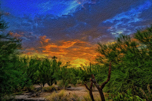 Photograph - Back Alley Sunset Op36 by Mark Myhaver