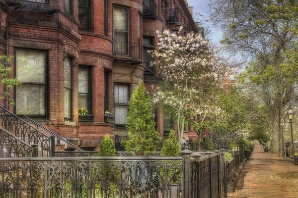 Photograph - Back Bay Boston Brownstones In Spring by Joann Vitali