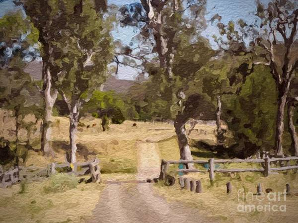 Back Country Farm Track Art Print