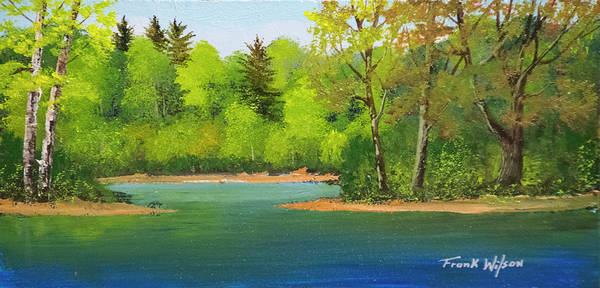 Wall Art - Painting - Back Country Pond by Frank Wilson