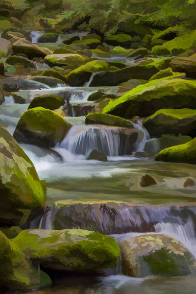 Digital Art - Back Country Stream II by Jon Glaser