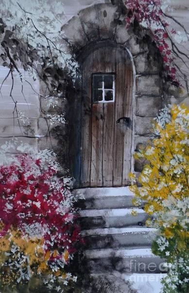 Back Door Painting - Back Door, Gouache Painting by David K Myers