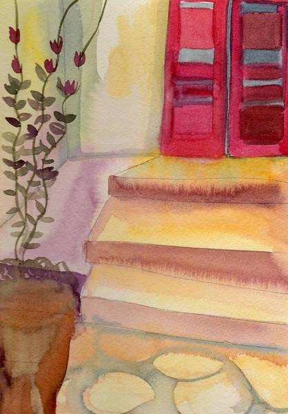 Back Door Painting - Back Door by Janet Doggett
