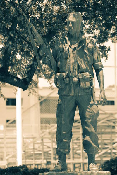 Photograph - Back From Patrol Statue by Colleen Cornelius