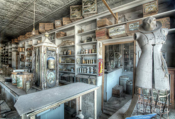 Ghosttown Photograph - Back In 5 - The General Store, Bodie Ghost Town by Martin Williams