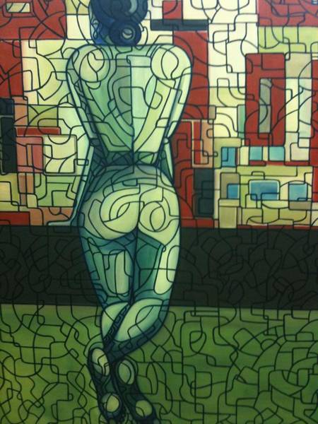 Painting - Back Of Leaning Woman 2001a001 by Lino Vicente