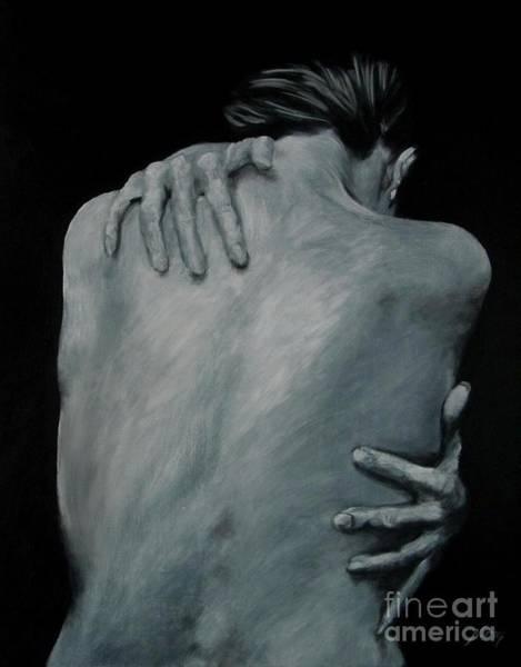 Back Of Naked Woman Art Print
