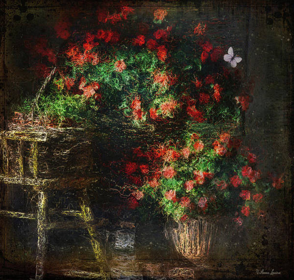 Photograph - Back Porch Baskets Of Flowers by Anna Louise
