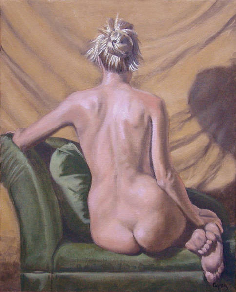 Painting - Back Study by Todd Cooper
