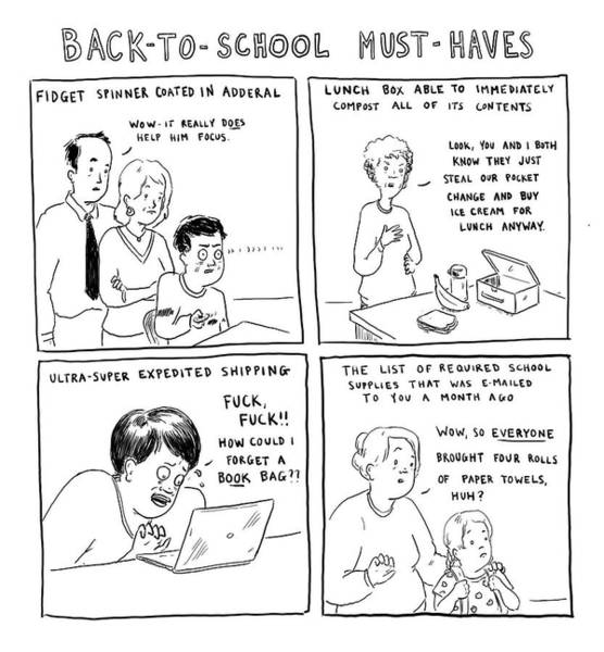 Preparation Drawing - Back-to-school Must-haves by Emily Flake