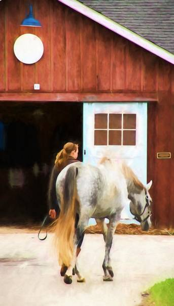 Photograph - Back To The Barn by Alice Gipson