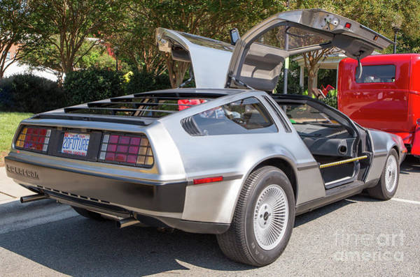 Photograph - Back To The Future Car by Kevin McCarthy