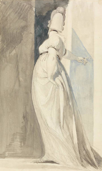 Painting - Back View Of A Standing Female Called Mrs. Fuseli by Henry Fuseli