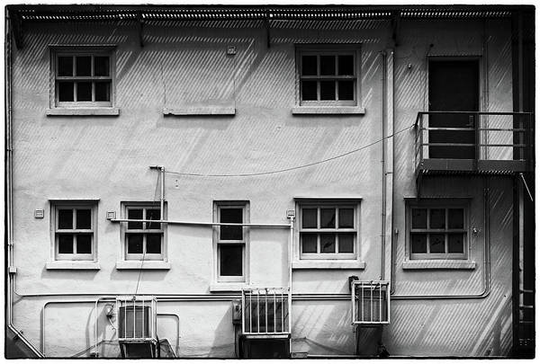Photograph - back windows in Black and white by Rudy Umans