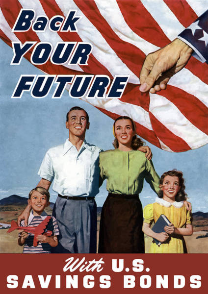 Uncle Painting - Back Your Future With Us Savings Bonds by War Is Hell Store
