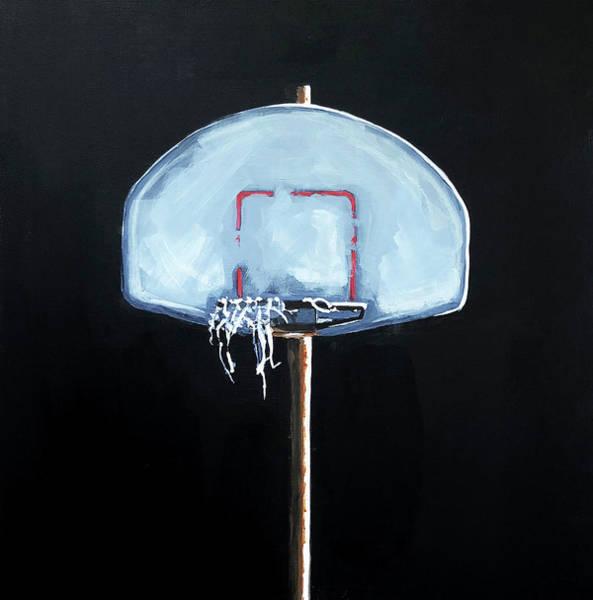 Basketball Painting - Backboard by Jeffrey Bess