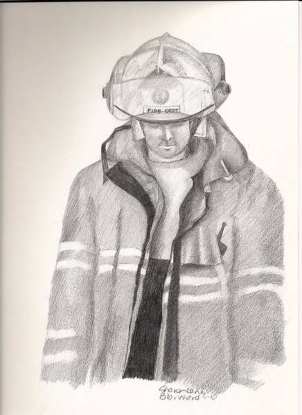 Risk Drawing - Backdraft by Sharon Blanchard