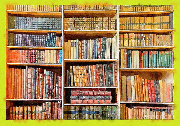 Digital Art - Background From Old Books by Ariadna De Raadt