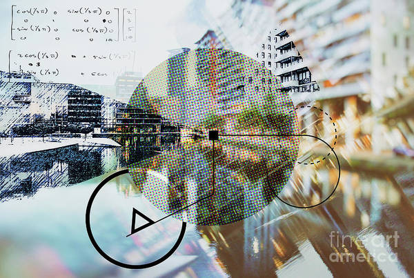 Digital Art - Background Of Architecture  by Ariadna De Raadt