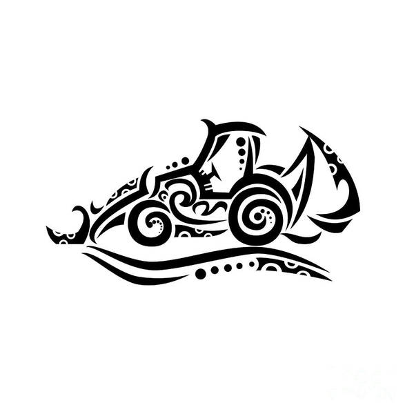 Tribal Digital Art - Backhoe Tribal Tattoo by Aloysius Patrimonio