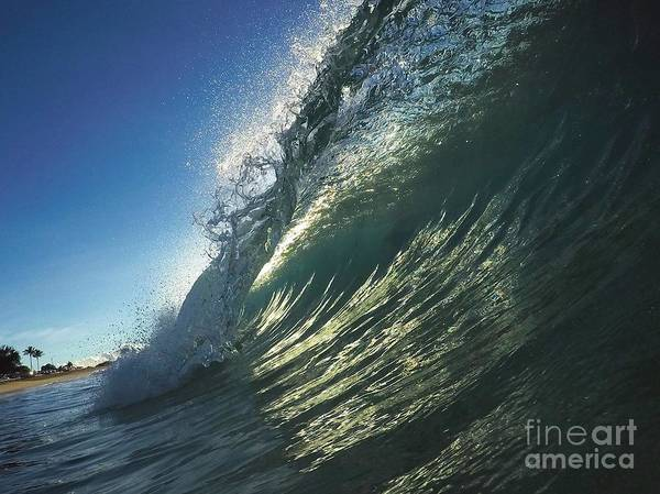 Bodyboard Photograph - Backlit Avalanche by Benen  Weir