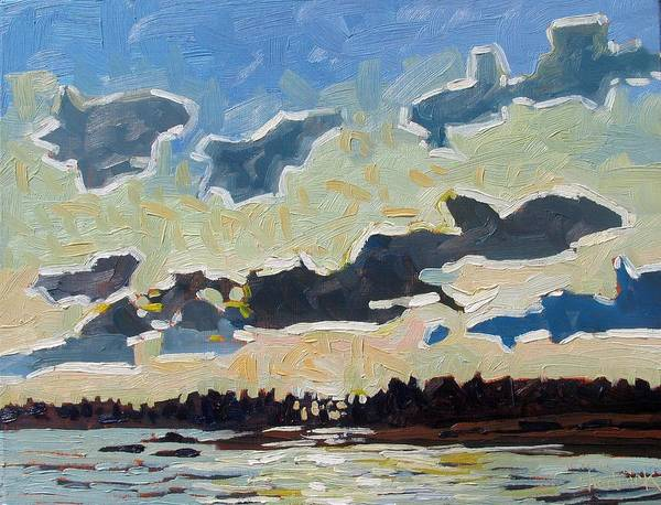 Stratocumulus Painting - Backlit Singleton Stratocumulus by Phil Chadwick