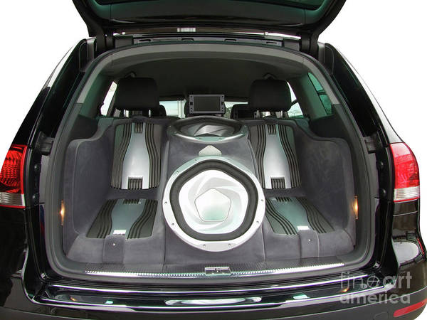 Car Stereo Photograph - Backside Of Car With Luxury Audio-system by Goce Risteski