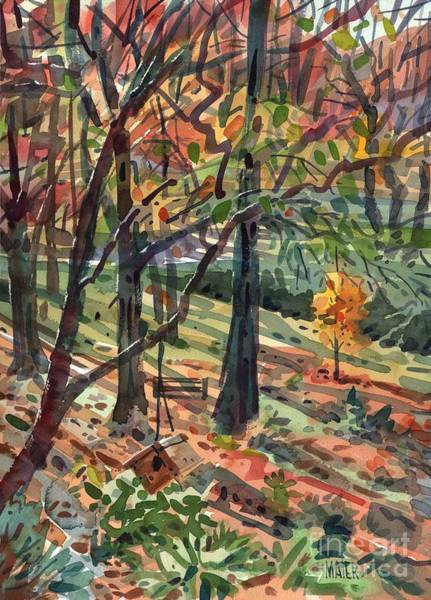 Birdhouse Painting - Backyard by Donald Maier