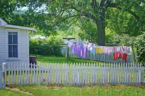 Wall Art - Photograph - Backyard Drying - Laundry by Nikolyn McDonald